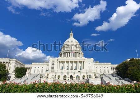 United States Capitol Building in Washington DC USA