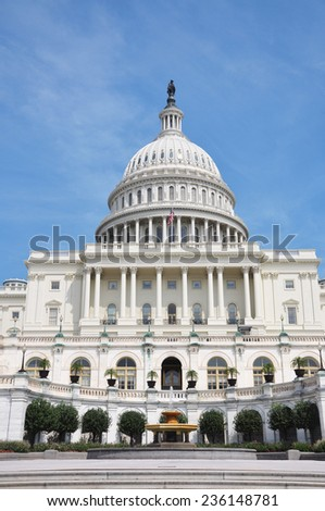 United States Capitol Building in Washington, District of Columbia, USA - stock photo