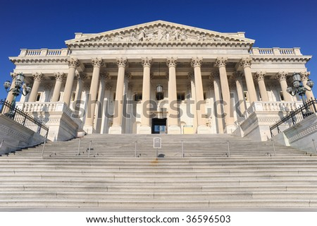 United States Capitol, House Side - stock photo