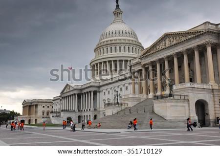 United States Capitol or Capitol Hill, Washington D.C., USA. - stock photo