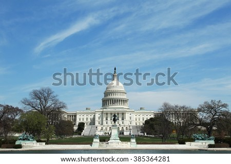 United States Capitol Rotunda. Senate and Representatives government home in Washington D.C.