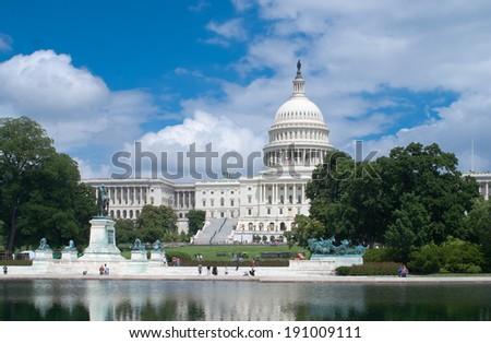 United States Capitol - Washington DC - stock photo