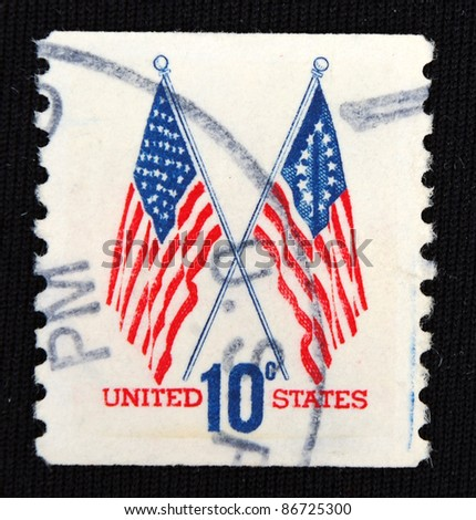 UNITED STATES - CIRCA 1996: A stamp printed in United States shows Banner, circa 1996