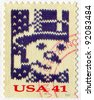 UNITED STATES - CIRCA 2007: stamp printed by United States of America, shows  knit snowman, circa 2007 - stock photo