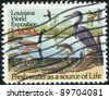 UNITED STATES - CIRCA 1994 : stamp printed by United States of America, shows river wildlife, circa 1994 - stock photo