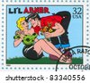 UNITED STATES - CIRCA 1995: stamp printed by United states, shows Comic Strips, Lil Abner, circa 1995 - stock