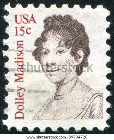 UNITED STATES - CIRCA 1980: stamp printed by United states, shows Dolley Madison, circa 1980