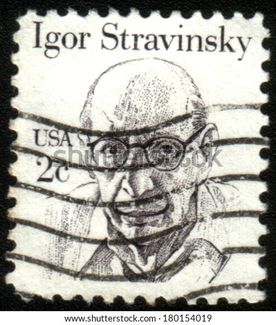UNITED STATES - CIRCA 1980: stamp printed by United states, shows Igor Stravinsky, circa 1980