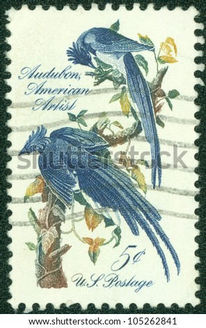 UNITED STATES - CIRCA 1963: stamp printed in United states, shows Columbia Jays, circa 1963 - stock photo
