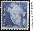 UNITED STATES - CIRCA 1984: stamp printed in USA shows Eleanor Roosevelt, circa 1984 - stock photo
