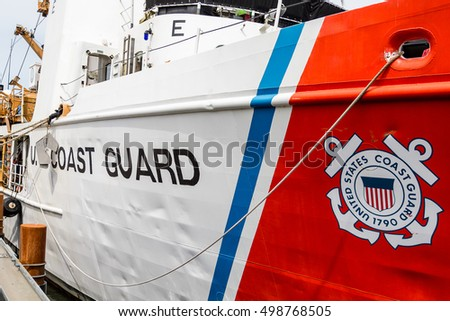 United States Coast Guard Ship Docked in Oregon
