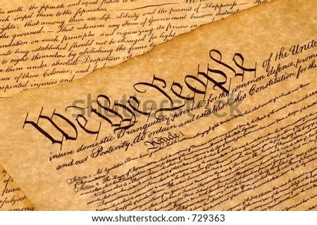 United States Constitution  - stock photo