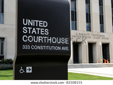 United States Court House in Washington, DC - stock photo