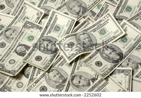 United States currency background