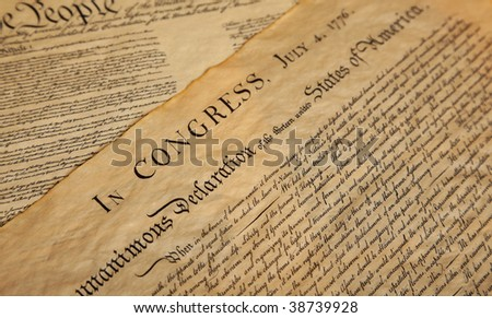 United States Declaration of Independence - stock photo