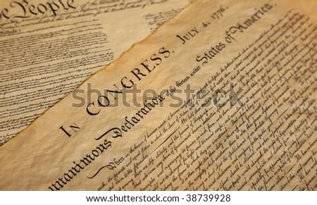 United States Declaration of Independence - stock photo