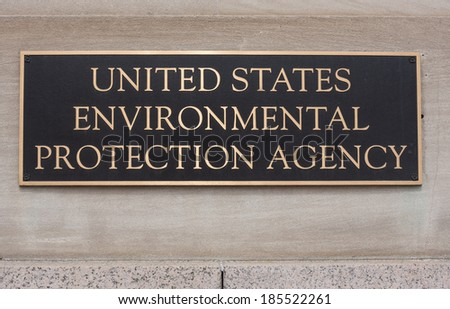 United States Environmental Protection Agency sign on the Clinton building - stock photo