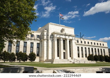 United States Federal Reserve Bank building in Washington D.C. - stock photo