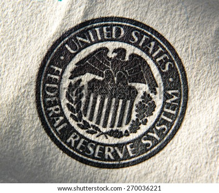 United States Federal Reserve System symbol.Close up - stock photo
