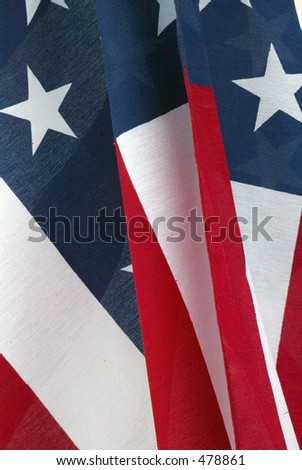 United States Flag close up