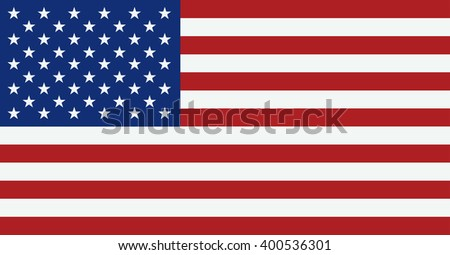 United States flag. USA flag. American symbol. Classic color - stock photo