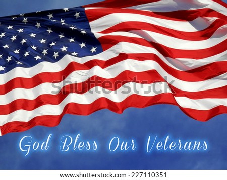 United States Flag Veterans Day Concept     - stock photo