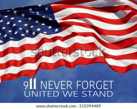 United States Flag with 9/11 concept