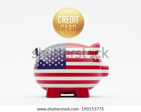 United States High Resolution Credit Card Concept - stock photo