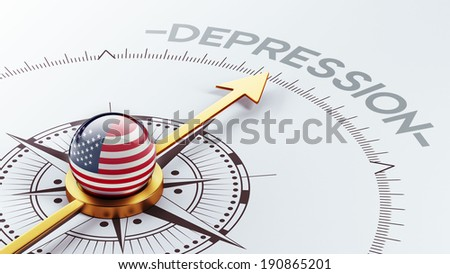 United States High Resolution Depression Concept - stock photo
