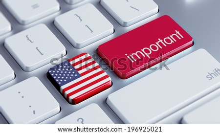 United States High Resolution Important Concept - stock photo