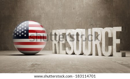 United States High Resolution Resource Concept - stock photo