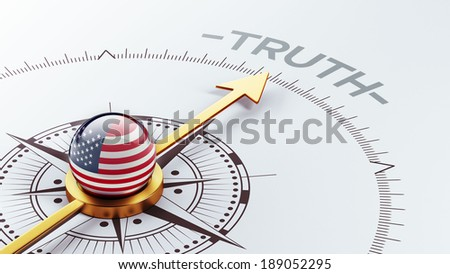 United States High Resolution Truth Concept - stock photo