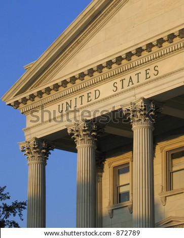 United States in a tangible form - stock photo