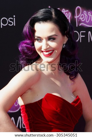 "UNITED STATES, LOS ANGELES, JUNE 26, 2012: Katy Perry at the Los Angeles premiere of ""Katy Perry: Part Of Me"" held at the Grauman's Chinese Theater, Los Angeles. - stock photo"