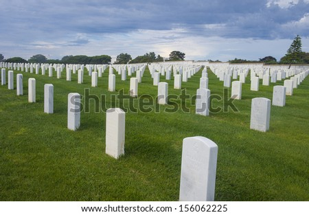 United States Military Cemetery in Point Loma San Diego, California
