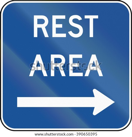 United States MUTCD guide road sign - Rest area.