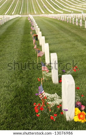 United States National Cemetery of fallen Heroes - stock photo