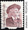 UNITED STATES OF AMERICA - CIRCA 1988 : A stamp printed in the USA shows Buffalo Bill, circa 1988 - stock photo