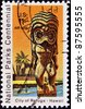 UNITED STATES OF AMERICA - CIRCA 1980: A stamp printed in the USA shows National Park on Hawaii - City of Refuge, circa 1980 - stock photo