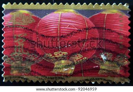 UNITED STATES OF AMERICA - CIRCA 2008: A stamp printed in USA dedicated to lunar new year, circa 2008