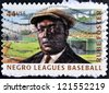 UNITED STATES OF AMERICA - CIRCA 2010: A stamp printed in USA dedicated to negro leagues baseball, shows Rube Foster, circa 2010 - stock photo