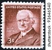 UNITED STATES OF AMERICA - CIRCA 1954: a stamp printed in USA shows George Eastman, photography pioneer, inventor and philanthropist, circa 1954 - stock photo