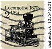 UNITED STATES OF AMERICA - CIRCA 1981: stamp printed in USA shows locomotive, circa 1981 - stock photo