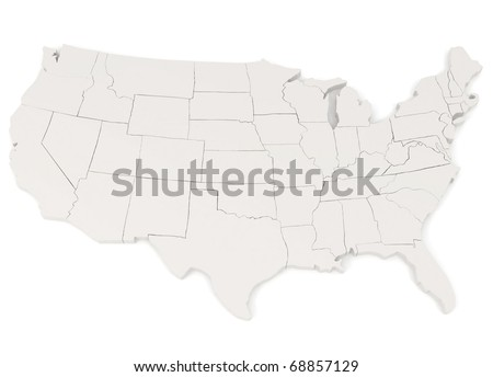 United States of America - 3d illustration - stock photo