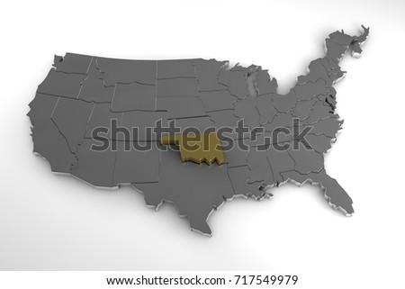 Us Map Oklahoma Morandesignco - Us map 1884