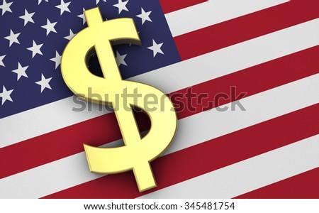 United States America Economy Concept Us Stock Illustration