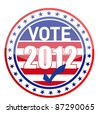 United States of America Elections pins - stock photo