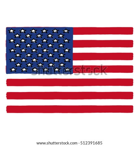 United States of America flag illustration