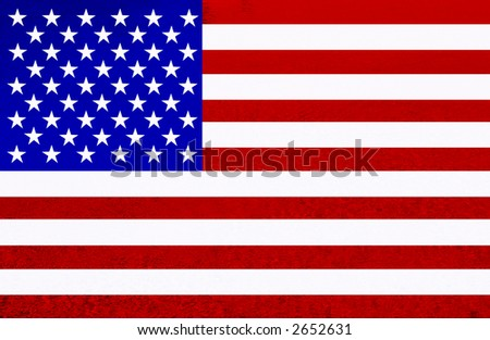 united states of america flag illustration, computer generated - stock photo