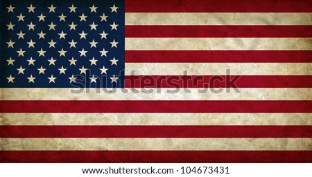 United States of America grunge flag - stock photo